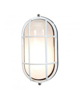 Access Lighting Model 20292-WH-FST 6 Inch Nauticus Outdoor Wall Light