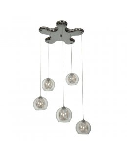 Access Lighting 52076-CH-CLR  Aeria Multi-Light Pendant Chrome-Clear