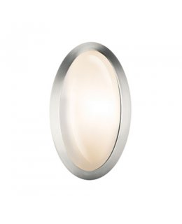 Access Lighting  C20421BSOPLEN1113B  Cobalt Oval Wall Sconce Brushed Steel