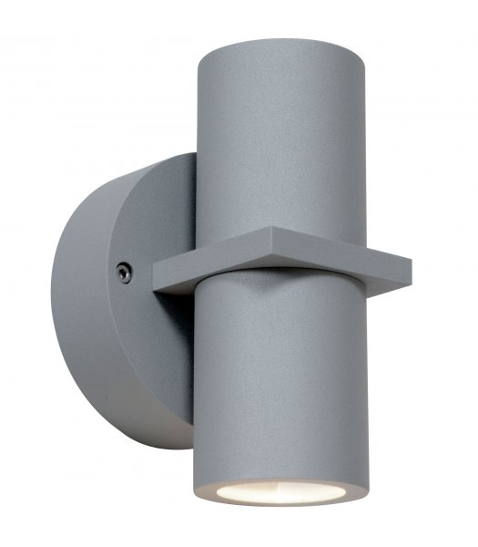Access 20352LEDDMGLP-SAT-CLR  KO 52 LED Dual Spot Outdoor Wall Light