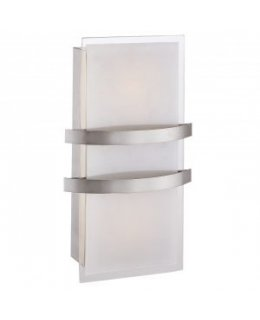 Access 62218LED-BS-OPL  Metro 62218 LED Wall Sconce Light Fixture Brushed Steel-Opal Finish