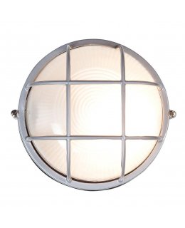 Access Lighting 20296-SAT-FST Nauticus 9 Inch Round Outdoor Wall Light
