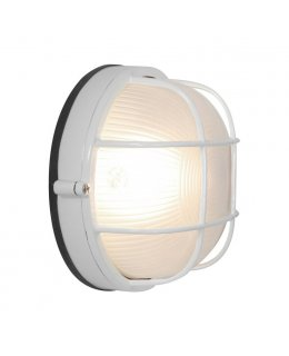 Lighting 20294-WH-FST 7 Inch Nauticus Round Outdoor Wall Light