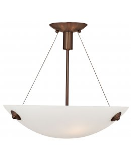 Access Lighting Model 23071-BRZ-WHT 17 Inch Noya 23071 Semi Flush Ceiling Light Fixture Bronze Finish