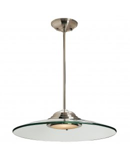Access Lighting Model 50444LEDD-BS-8CL Phoebe  LED Pendant Light Fixture Brushed Steel-Clear Finish