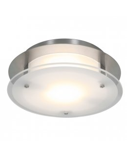Access Lighting Model 50037LEDD-BS-FST 12 Inch Vision LED Round Flush Mount Ceiling Light Fixture Brushed Silver-Frosted Finish