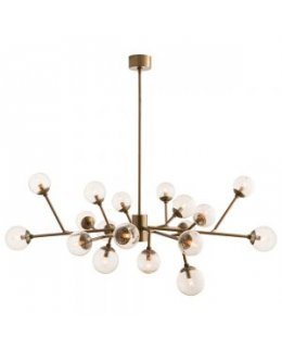 Arteriors Home Lighting Model AH-89966 Dallas Chandelier Vintage Brass Finish
