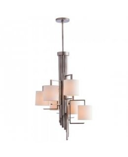 Arteriors Home Lighting Model AH-89048 Elijah Chandelier Vintage Silver Finish