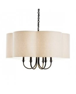 Arteriors Home Lighting Model AH-89418 Rittenhouse Chandelier Vintage Bronze-Eggshell Shade Finish