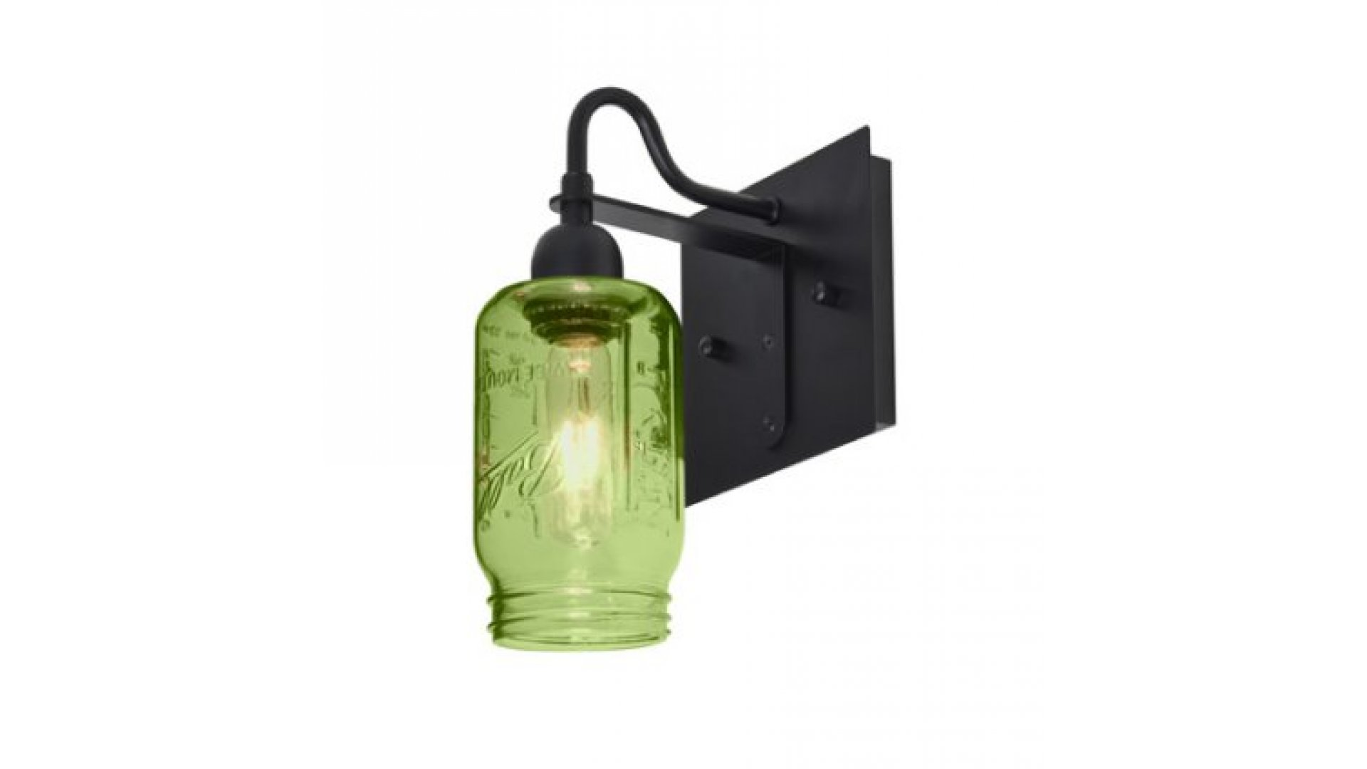 Besa Lighting 1wg Milo4wf Bk Milo 4 Series Wall Sconce Light Fixture Black Green Gl Finish