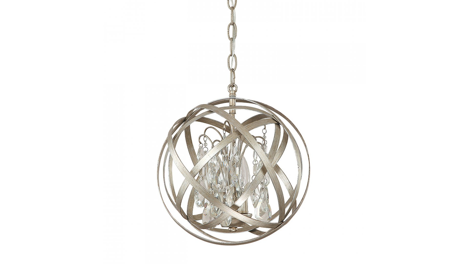 Capital Lighting 4233rs Cr Axis Crystal 12 Inch Pendant