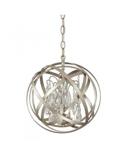 Capital Lighting 4233RS-CR Axis Crystal 12 INCH Pendant