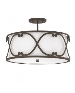 Capital Lighting 4743BB-610 Alexander Flush Ceiling Fixture