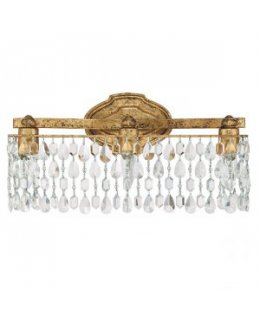 Capital Lighting 8528AG-CR Blakely Crystal Vanity Light