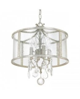 Capital Lighting 9484AS-CR Blakely Drum Pendant