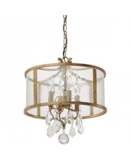 Capital Lighting 9484AG-CR Blakely Drum Pendant