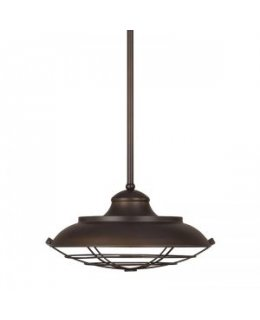 Capital Lighting 4568BB Classic Barn-Style 17 Inch Pendant
