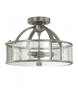 Capital Lighting 4851GR Davis Flush Ceiling Fixture