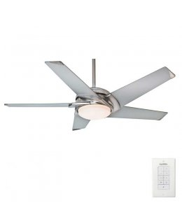 Casablanca Stealth 5 Blade Series Model 59094 54 Inch Brushed Nickel-Platinum Blades Ceiling Fan DRY LOCATION