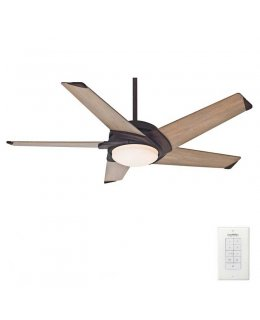 Casablanca Stealth 5 Blade Series Model 59092 54 Inch Industrial Rust-River Timber Blades Ceiling Fan DRY LOCATION