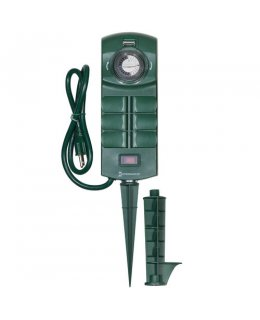 CLP13228 15A Outdoor Stake Timer with 6 Grounded Outlets and 24 on-off settings