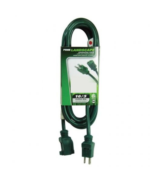 CLP12368 25 FT Green Medium Duty Extension Cord 3 Prong 16 Gauge