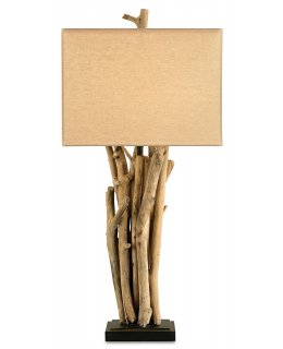 Currey & Company 6344-CC  Driftwood Table Lamp