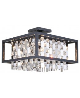 DVI Lighting DVP6312GR-CRY Amethyst 16 Inch Ceiling Semi-Flush Mount