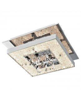 Elan Lighting ELA-83431 14 Inch Crushed Ice Square Ceiling Light