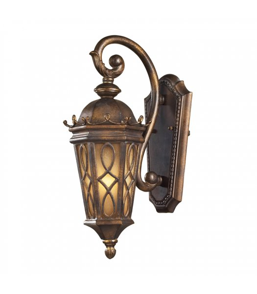 Elk Lighting 42000-1  Burlington Outdoor Wall Sconce Hazelnut Bronze-Amber Finish