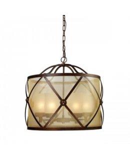 Elk Lighting Model    14052-6 Cumberland 26 Inch Chandelier Classic Bronze-Amber Finish