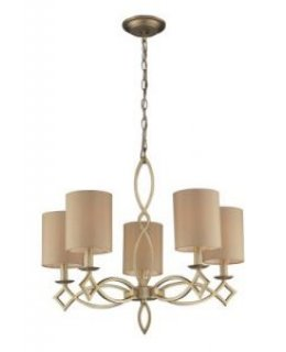Elk Lighting Model 31127-5 Estonia Chandelier Aged Silver-Beige Finish