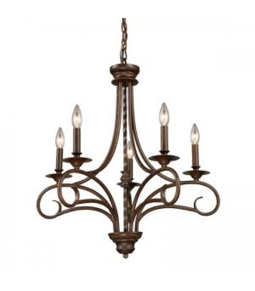 Elk Lighting 15042-5 Gloucester 24 Inch Chandelier