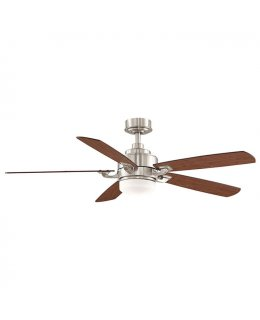 "Fanimation Benito Series Model # FP8003BN 52"" Brushed Nickel-Cherry Walnut Blades Ceiling Fan DRY LOCATION"