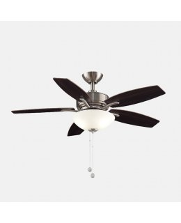 "Fanimation Aire Deluxe Series Model # FP6244BN 44"" Brushed Nickel-Cherry Walnut Blades Ceiling Fan DRY LOCATION"