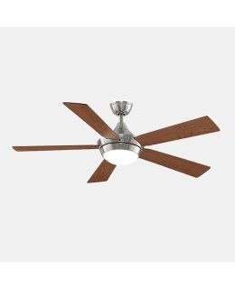 "Fanimation Celano V2 Series Model # FP8062BN 52"" Brushed Nickel-Cherry Walnut Blades Ceiling Fan DRY LOCATION"