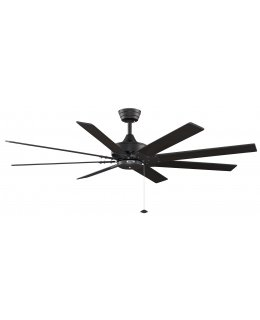 "Fanimation Levon Series Model # FP7910BL 63"" Black Ceiling Fan DRY LOCATION"