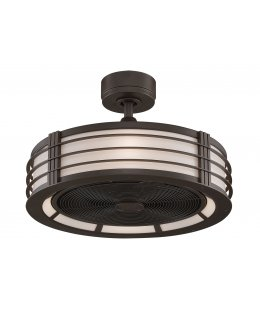 """Fanimation Beckwith Series Model # FP7964OB 24"""" Oil Rubbed Bronze Ceiling Fan DRY LOCATION"""