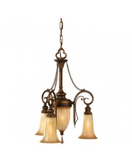 Feiss F2543-3FSV Celine Mini Chandelier