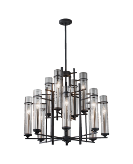 Feiss F2629-8+4AF-BS Ethan Multi Tier Chandelier