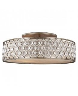 Feiss SF329BUS Lucia 30 Inch Semi Flush Ceiling Mount