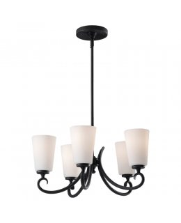 Feiss F2535-5BK Peyton 5 Light Chandelier