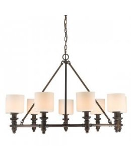 Golden Lighting 2116-9 RBZ-OP Beckford 36 Inch Chandelier