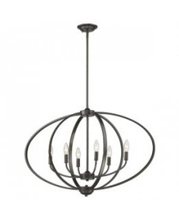 Golden Lighting 3167-LP EB Colson Chandelier