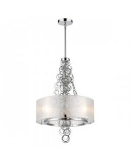 Golden Lighting Model 5050-3 CH Danica 20.4 Inch Chandelier Chrome-Sheer Opal Finish