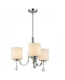 Golden Lighting 8037-M3 CH-OP Evette 21 Inch Chandelier