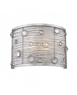 Golden Lighting Model  1993-WSC PS Joia Wall Sconce Light Fixture Peruvian Silver-Sterling Mist Finish