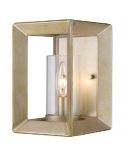 Golden Lighting 2073-1W WG-CLR  Smyth Wall Sconce
