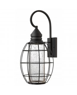 Hinkley 2258BK New Castle Outdoor Oval Wall Sconce