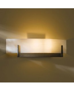 Hubbardton Forge Lighting Model  206401-07-B324 Axis Wall Light Fixture Dark Smoke-White Art Finish